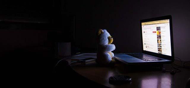 Мишка за ноутбуком