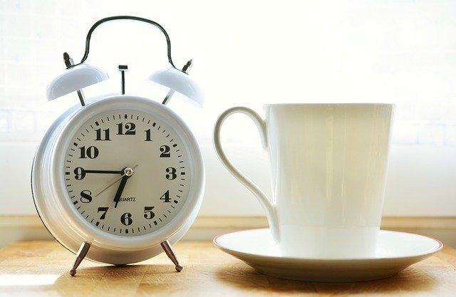 Будильник с кофе